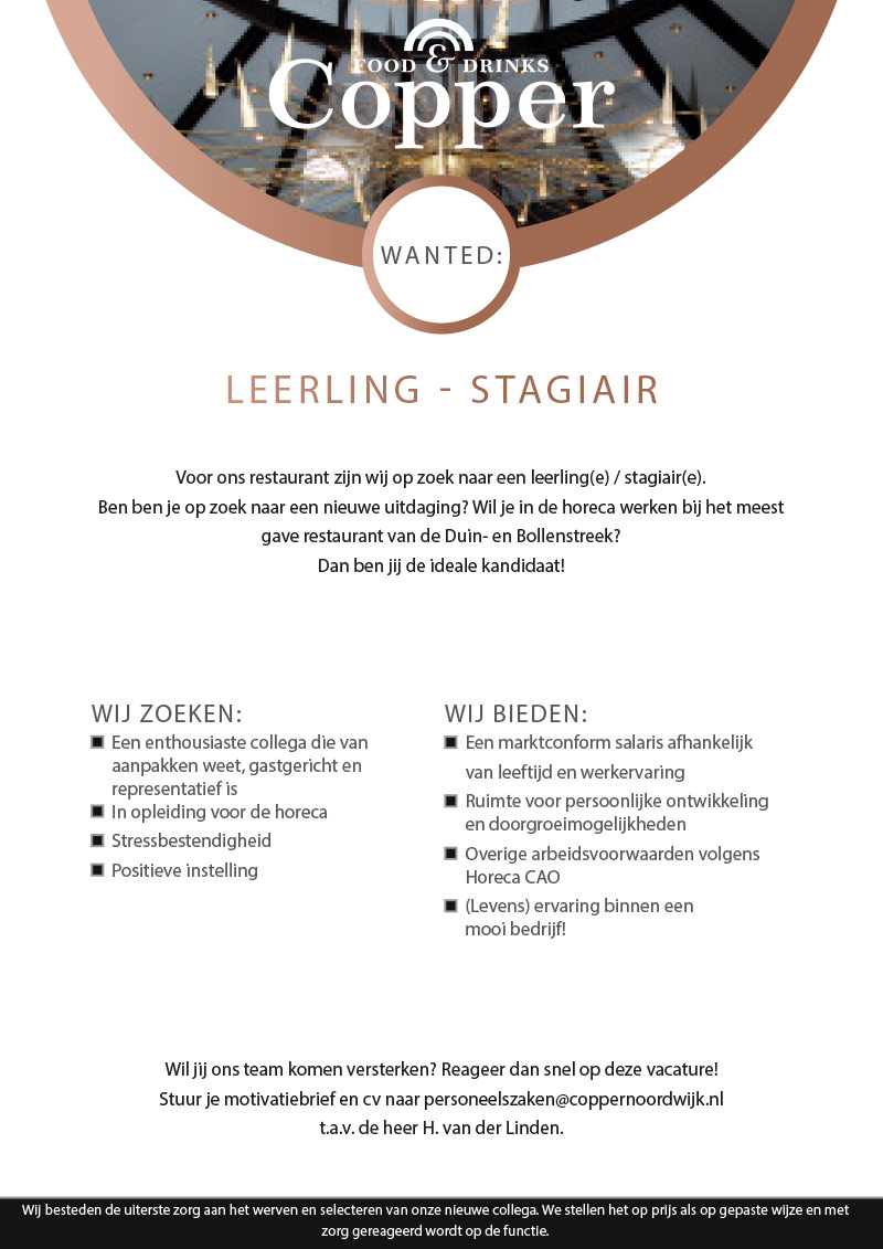 COPPER-VACATURE-LEERLING-STAGIAIR